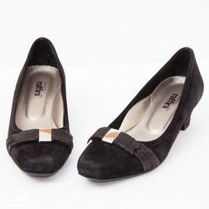 Umberto Raffini Women's Black Suede Shoes Size 8.5